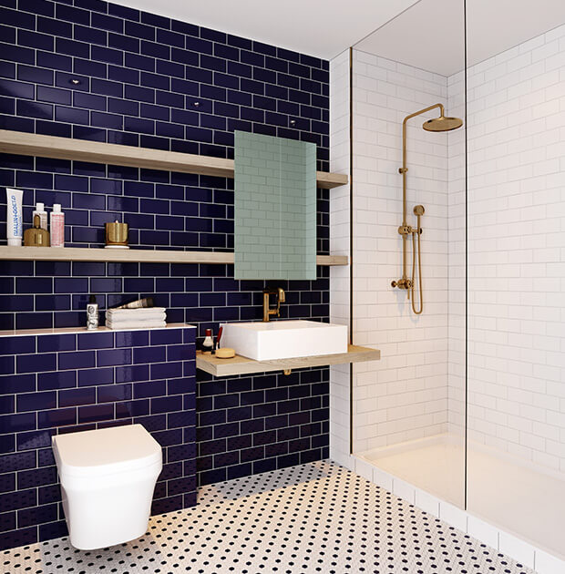 1 Bed Square image bathroom