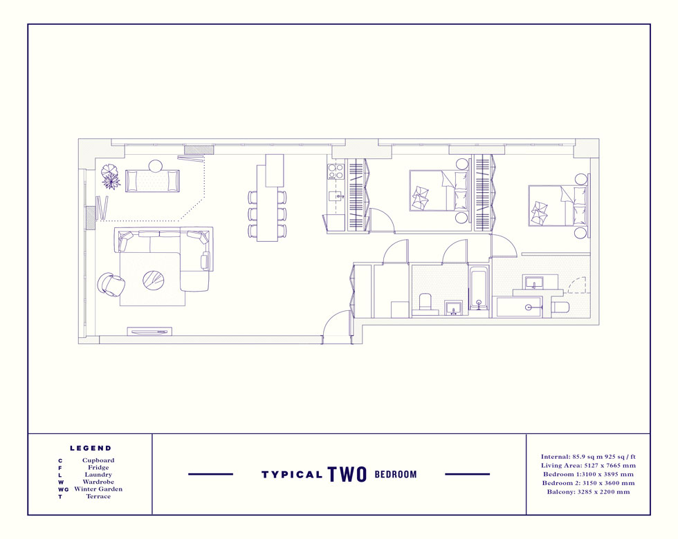 2bed floorplan